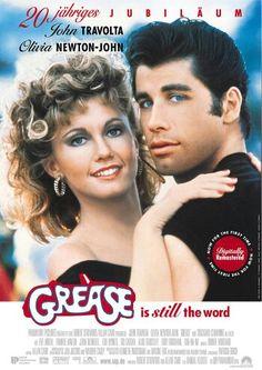 Grease - Starring John Travolta and Olivia Newton-John. Kind of a Broadway show on the screen. Got-to-watch movie/ Grease filmi müzik, şov ve aşkı birleştiren tam bir Broadway şovu misali. John Travolta, Grease Movie, Grease 1978, Grease Musical, The Grease, Rizzo Grease, Grease Style, Childhood
