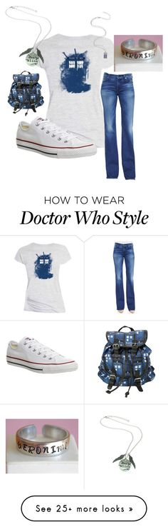 """Doctor who"" by abby-fashions on Polyvore featuring 7 For All Mankind and Converse"