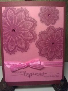Stampin' Up MDS Hello Doily and Heard from the Heart