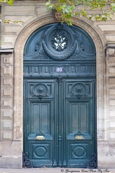 Blue door ~ Paris ~ by Georgianna Lane and David Phillips