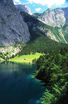 Mountain Lake, The Alps, Switzerland