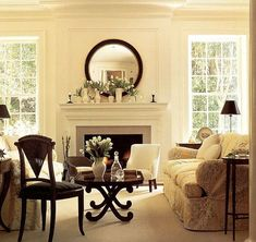 traditional living room fireplace decoration mantle piece
