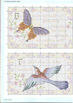 Gallery.ru / Фото #47 - Cross Stitch Gold 85 - Los-ku-tik Chinese Proverb card 1/3