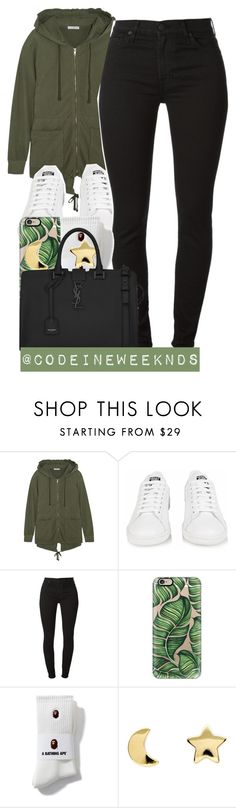 """1/30/16"" by codeineweeknds ❤ liked on Polyvore featuring James Perse, adidas, Casetify, Erica Weiner, Yves Saint Laurent, women's clothing, women, female, woman and misses"