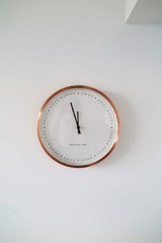 Aurelia Wall Clock, Copper | made.com
