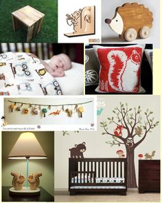 Woodland Wednesday - Boy's Nursery I like the book end just in white...