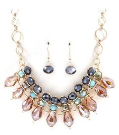 Pearshape and Rondelle Statement Necklace Jewelry Trend