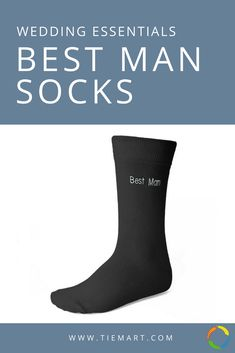 "The perfect wedding day socks for your best man. Black with white ""Best Man"" embroidery. More styles available for your entire wedding party. Groomsmen Socks, Groom And Groomsmen, On Your Wedding Day, Perfect Wedding, Black And White Wedding Theme, Wedding Socks, Matches Fashion, Father Of The Bride, Mens Fitness"