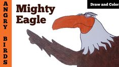 How to Draw and Color Mighty Eagle from Angry Birds Movie | YaazhiniFineArt Angry Birds Movie Characters, Moose Art, Eagle, Drawings, Movies, Animals, Color, Sketches, Films