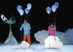 Balloons are a great idea for children's theatre.