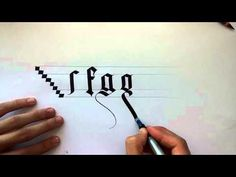 gothic calligraphy for beginners #2 - YouTube