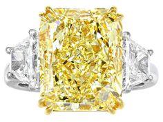 Rare Large Deep Yellow Diamond