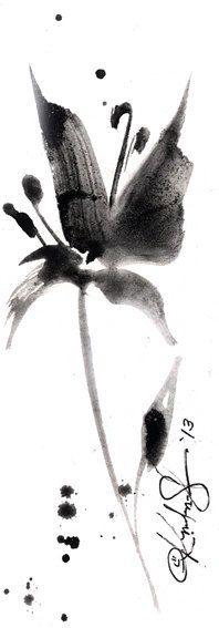 Brushstroke Floral ... Series No.3 ... Kathy Morton Stanion KathyMortonStanion.etsy.com