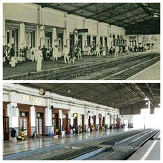 Bogor station, above 1916,below 2017. I always wonder how was things running in an old days, like these photos. The old one was taken a century ago but look at the newest photo, incredible there's nothing much changes instead of the people. The station was built during Dutch influence period.