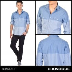 Exude confidence in this cool shaded shirt from Provogue! Pair it with denims and sneakers for a smart urbane look. Check it out at a Provogue Store near you.