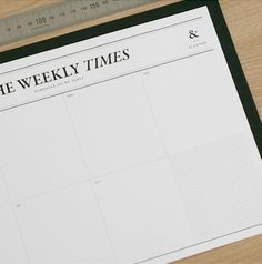 Display your weekly plans at work or home, so you and others never miss an important date!