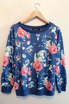 Keep you warm all the winter.Cozy up in it made for taking this Fashion Knit Sweatshirt features Floral Printing. Only $17.99.Find more amazing piece at OASAP.COM.