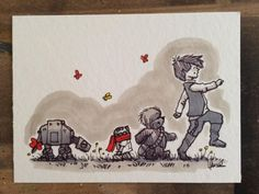 "Would make a cute theme for baby room -LOVE these ""Star Wars"" characters reimagined as ""Winnie the Pooh"" characters"