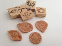 TUTORIAL how to use rubber stamps to make polymer clay molds for jewelry. CraftyGoat's Notes: Make reverse molds of your rubber stamps using Super Sculpey