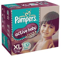 Pampers Active Baby Xl 32Pcs Buy Online at lowest price in India: BigChemist.com