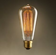 Vintage Antique Bulb 40w, Edison Squirrel Cage Filament Incandescent on Etsy, 27,50 zł
