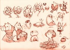 kitkaloid: fanart dump of undertale! really excited for this game. go check out the demo!