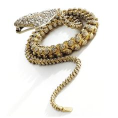 c1850s Gold and Diamond Serpent Necklace ...  tail clasps into the mouth. (photo Sotheby's).