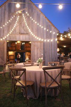 J & D Farms - Barn w/ lights Farm Images, Farm Barn, Farm Wedding, Wedding Ideas, Outdoor Furniture, Outdoor Decor, Building A House, Farms, Patio