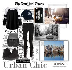 """""""Set 398: ROMWE Shirt"""" by ussms1107 ❤ liked on Polyvore featuring Yves Saint Laurent, Converse and rag & bone"""