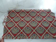 Vintage Seashell Upholstery Remnant | eBay