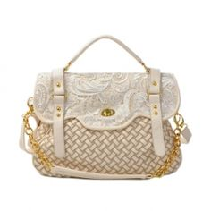 $12.72 New Arrival Interlaced and Lace Embellished Covered Bag For Women