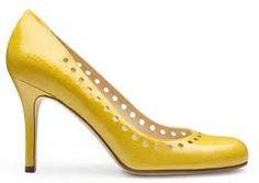 Kate Spade yellow pumps