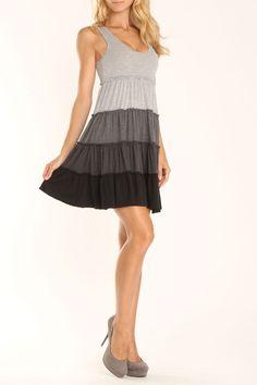 La Class Gaya Dress In Gray - Beyond the Rack