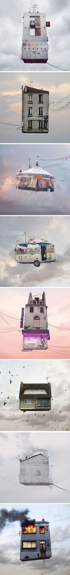 Flying Houses par Laurent Chéhère | Journal du Design