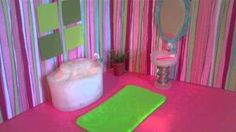 How to Make a Mini Doll Bathroom for Lalaloopsy or Littlest Pet Shop, via YouTube.