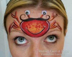 Silly crab face painting by  Making Faces  Tutus www.MakingFaces.vpweb.com