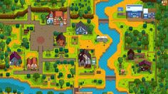 An 8K image of the main town. // How to take a screenshot of your entire Stardew Valley farm