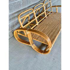 Tropical Furniture, Oriental Furniture, Rattan Daybed, Rattan Furniture, Tropical Style Decor, Mid Century Sofa, Take A Seat, Golden Girls, Midcentury Modern