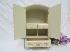 Vintage Shabby Chic Jewelry Cabinet by Gem2theiVintage on Etsy