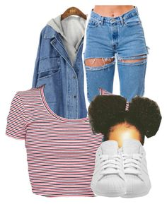 """""""Untitled #2855"""" by alisha-caprise ❤ liked on Polyvore featuring adidas"""