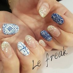 Tiles and sequined tips