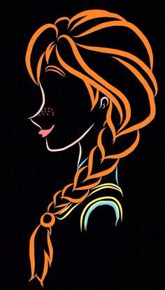 Disney Magic, Disney Art, Silhouette Cameo 4, Stencils, Disney Silhouettes, Pinturas Disney, Chalk Art, Cute Disney, Disney Drawings