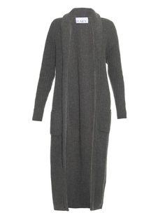 Elizabeth Olsen must have - Raey Ribbed-Knit Wool and Cashmere Blend Cardigan