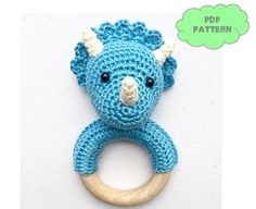 Dino rattle crochet pattern - $3,27