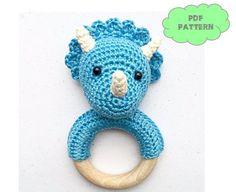 Dino rattle crochet pattern - $3,27