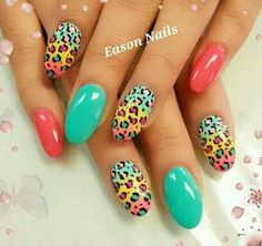 Cute Coral and Teal WITH cheetah print!!!