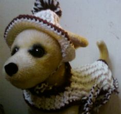 Dog Coat with Hat by Toy Togs  URL:  http://www.etsy.com/shop/ToyTogs?ref=search_shop_redirect
