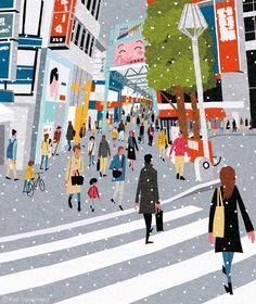 cover illustration for Quarterly magazine Musashino, winter of 2013, on Behance