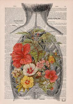 Naturaleza en un abierto detrás impresión humana de por PRRINT