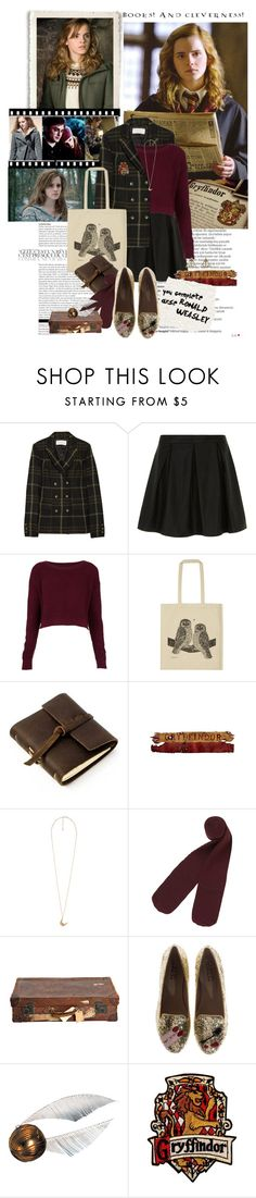 """""""Books! And cleverness!"""" by bittersweet89 ❤ liked on Polyvore featuring Emma Watson, Balmain, Thakoon Addition, Dorothy Perkins, Topshop, Ulster Weavers, Rustico, WALL, Forever 21 and Monki"""